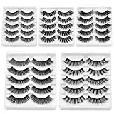 25 Pairs False eyelashes 17IF Dramatic Long 3D Mink Fake Lashes handmade Natural Reusable soft Fluffy thick for Makeup eyelash