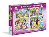 Clementoni 7708 Princesas Disney - Puzzle Progresivo, 20-60-100-180 Piezas 7708