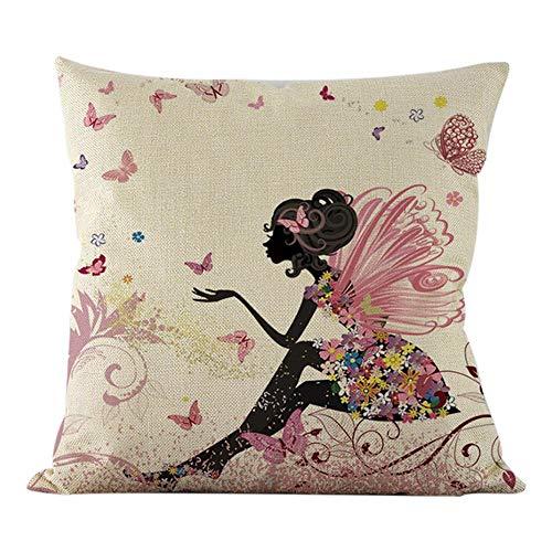 Hugyou Funda de almohada con diseño de mariposa creativa para decoración