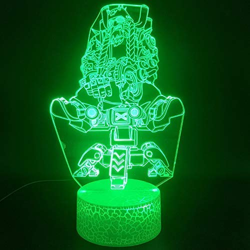 Match - Portalámparas de luz nocturna 3D para decoración de interiores