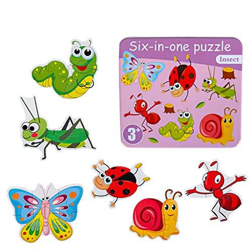 Juguetes educativos, bloques de dibujos animados de madera, 8 bloques de apilamiento para bebé, juego de bloques de rompecabezas para niños pequeños, inteligencia de juegos cerebrales de educación (B)