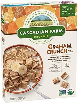 Cascadian Farm Organic Graham Crunch Cereal, 9.6 oz Box