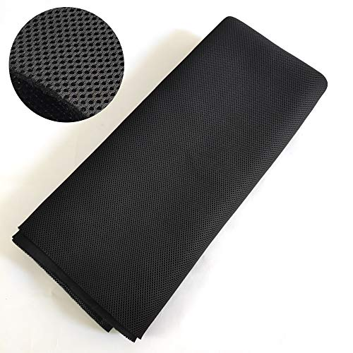A-569 Jet Black Speaker Grill Cloth 60 Inch x 36 Inch