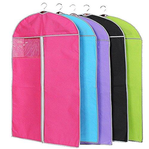 Qiansheng Sac de rangement pour vêtements avec housse anti-poussière en tissu non tissé respirant avec fenêtre transparente, adapté aux robes, sous-vêtements, stockage ou voyage, taille XL-60 x 120cm