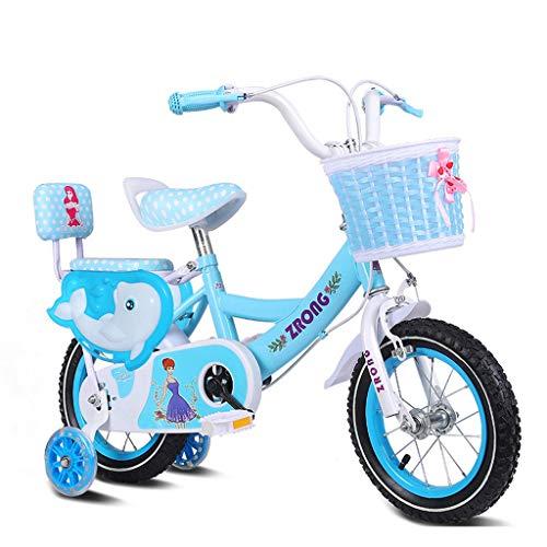 CENPEN De los niños de 3-5 años de edad, bicicletas bicicletas de 14 pulgadas cochecito de bebé Alto contenido de carbono marco de acero de la bici, Rosa / / azul bicicleta infantil púrpura (color: az