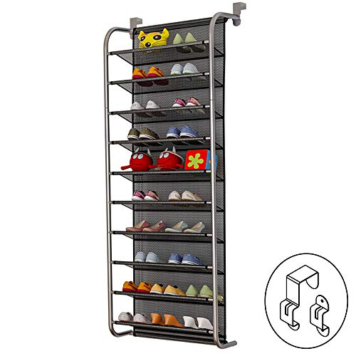 TZAMLI - Scarpiera con 10 Ganci in Metallo per Closet Pantry
