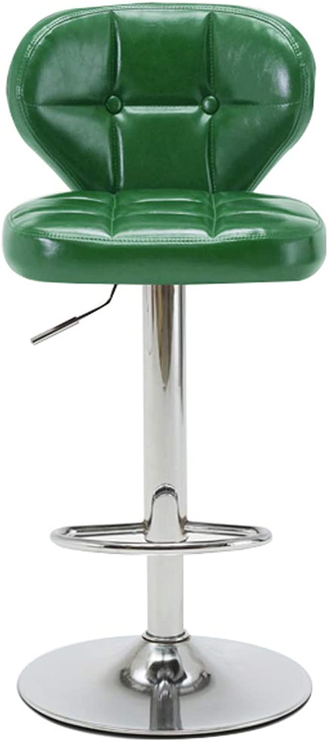 FFLSDR High-end Bar Stool, Coffee Shop Chair, Swivel Chair, Front Desk Stool, Jewellery Counter Chair Height Adjustable - 360° redation - Fashion Wild (color   K )