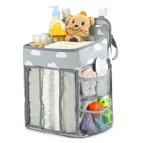 Rubeyul Hanging - Organizer per pannolini per bambini, con 5 tasche laterali, da appendere al lettino, all'auto, al fasciatoio o alla parete