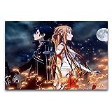 Anime Espada Art Online HD Poster Pintura decorativa lienzo arte de la pared de la sala de estar carteles pintura dormitorio 40 x 60 cm