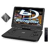 11.6インチ ポータブルブルーレイプレーヤー BD DVD プレイヤー 充電バッテリー搭載 3電源対応 マイクロファイバークロス付き