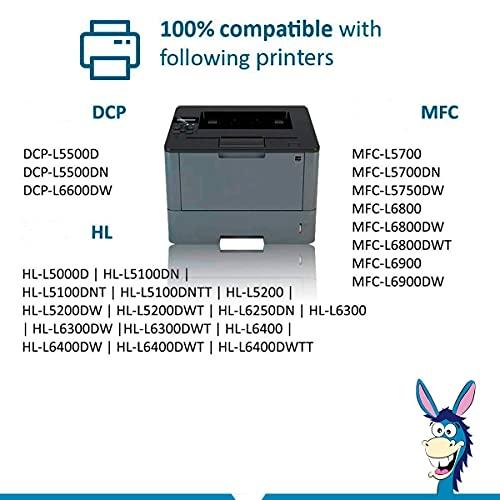 Donkey pc - 2 x Cartucho de Toner TN3480 TN-3480 TN3430 TN-3430 Compatible para Brother HL-L5000D HL-L5100DN HL-L5200DW HL-L5200DWT HL-L6200DW HL-L6200DWT HL-L6250DW HL-L6300DW (16.000 Páginas)