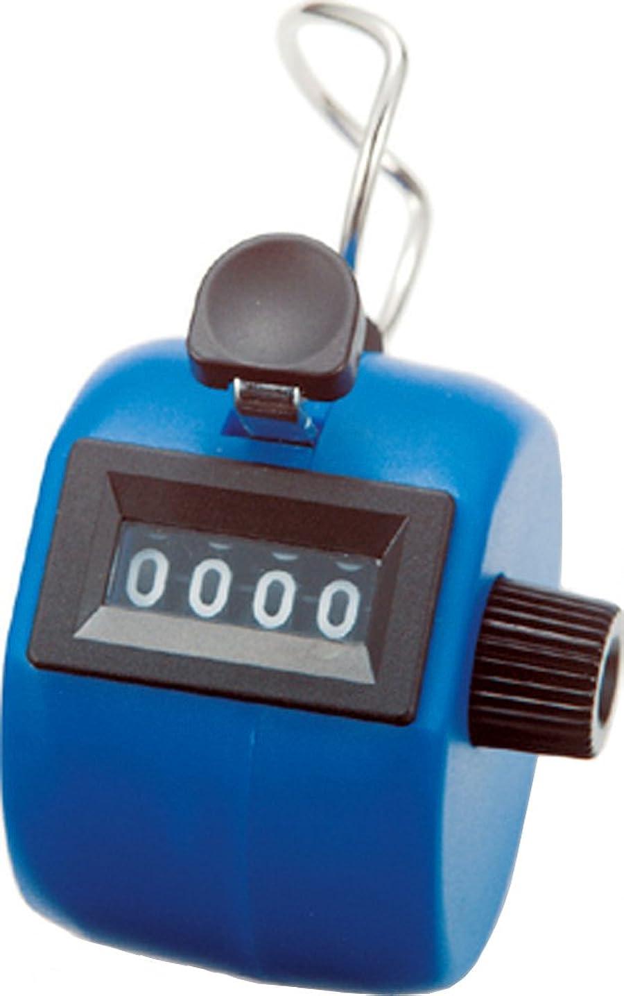 かろうじて驚めんどりシンワ測定 数取器 手持型 C ブルー 75090