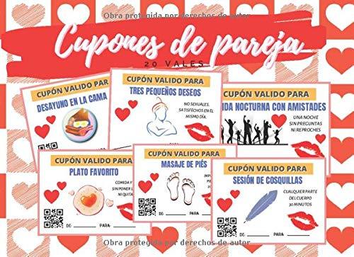 CUPONES DE PAREJA: TALÓN DE VALES CANJEABLES (DESAYUNO EN CAMA, MASAJES, BAÑO...