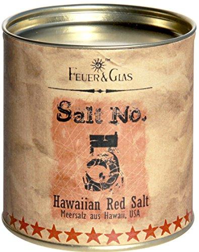 Rotes Meersalz aus Hawaii – Hawaiian red Salt Salt No. 5 - Gourmet Salz aus Hawaii – Ideal als Salz-Geschenk - Kostbare Hawiianische Salzflocken – Eine hawaiianische Delikatesse – von Feuer & Glas