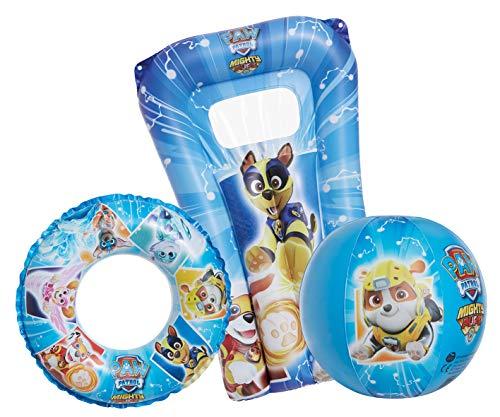 Smart Planet Juego de playa de la Patrulla Canina, colchón hinchable y flotador de la Patrulla Canina, hinchable, colchón para piscina, anillo y colchón