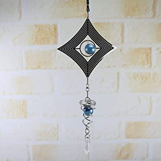 YUIOLIL 3D Metal Colgante Spinner de Viento Wind Chime Tail Glass Ball Centro Decoración DIY