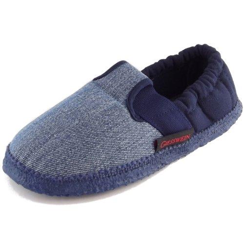 Giesswein Aichach 43-10-45633-528 Unisex Baumwoll-Slipper, Jeans/dunkelblau, Gr. 34