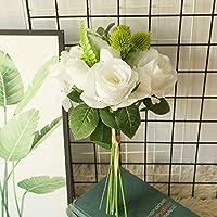 WillingYou造花 インテリア 枯れない花 プレゼント お祝い お見舞い 誕生日 母の日 バレンタインデー 転居 結婚式 プロポーズ 家庭 飾り 装飾 ブーケ 花束 バラ 紫陽花 ホワイト