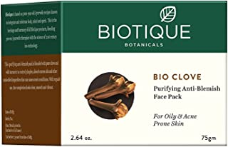 Biotique Bio Clove Purifying Anti-Blemish Face Pack for Oily and Acne Prone Skin, 75g
