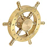SHDZKJ Spinner Brass Helm Wheel Gyro Finger Decompression Educational Toy