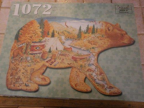 Silhouette Puzzle mit 1072 Teilen: Im Land der Bären