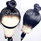 360 Lace Frontal Wig Human Hair Straight Human Hair Wigs with Baby Hair Straight Virgin Peruvian Human Hair Wig for Black Women Silky Straight 360 Full Lace Wig Human Hair 9A 360 Wig 130% Density 12'