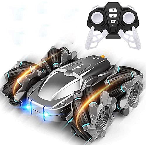 LQZCXMF Coche Teledirigido Del Truco De Doble Cara 2.4G Boy Toy Deriva De Alta Velocidad. El Coche De Control Remoto Tiene Una Gran Capacidad De Escalada. Es Un Regalo De Cumpleaños Sorpresa De Navida