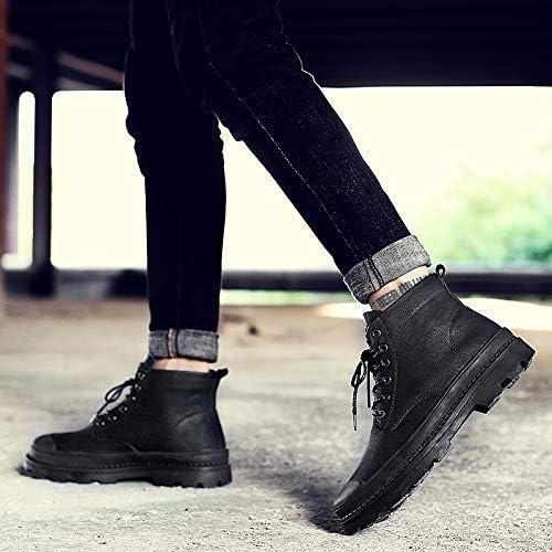 LOVDRAM Bottes Homme Bottes Martin Grandes Chaussures Homme Outillage Bottes en Coton pour Bottes PU Bottes d'hiver Hommes