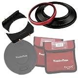 WonderPana 66 FreeArc Adaptador de Filtros Giratorio 145mm, 6.6' Soporte del Filtro y Tapa de Lente para el Lente Nikon 14mm AF Nikkor f/2.8D ED (Fotograma Completo 35mm)