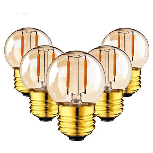 XINRISHENG 6pcs G40 Bombilla LED Filamento Globo Lámpara Edison Bombilla E27 220V...