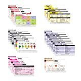 Nurse Nation 30 Horizontal Nursing Badge Reference Cards - Lab Values, EKG, Vitals, and More! (Bonus Cheat Sheets) Great Nurse Gifts - Nursing Student Accessories and Supplies!