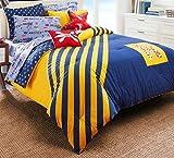 Nautica Kids Flag Diagonal Stripe 100% Fine Imported Cotton Comforter Set (Ultra...