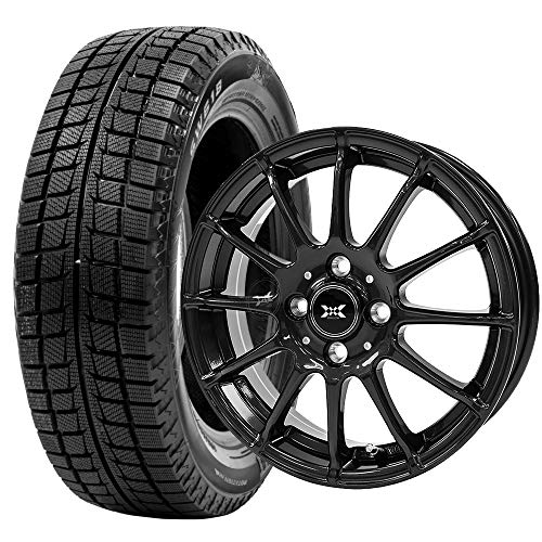 GOODRIDE (グッドライド) スタッドレスタイヤ ホイールセット 185/60R15 SW618 + 15×5.5J +50 4/100 ブラッ...
