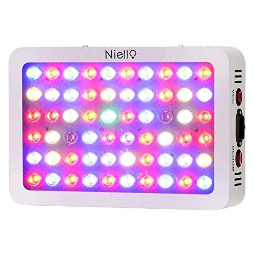Niello® 300W LED Pflanzenlampe Optical Lens-Series Led Grow Light 12-Bands Full Spectrum Wachsen Licht Led Wachstumslampe Pflanzenlicht für Zimmerpflanzen Gemüse und Blumen