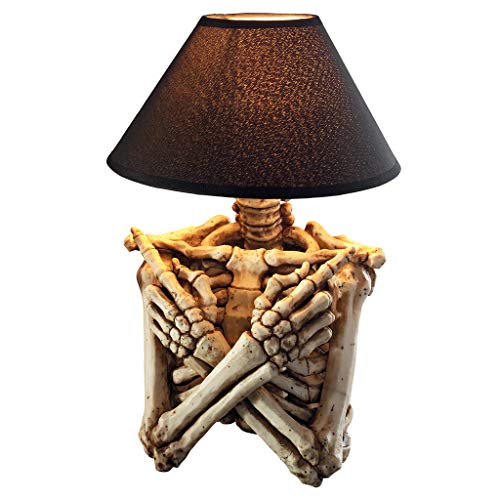 Design Toscano Rest in Pieces Gothic Skeleton Table Lamp, full color
