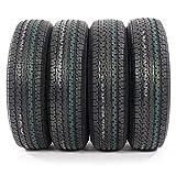 Motorhot ST225/75R15 Load Range E Radial Trailer Tires 10 Ply 2257515 Pack of 4