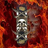 Sefulim 31'x8' Pro Complete Skateboard Skull Skateboard with Skate Tool Set for Youths, Beginners Adults.
