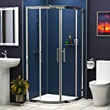 Royal Bathrooms 6<span class='highlight'>mm</span> Glass Double Sliding Door Walk in <span class='highlight'>Quadrant</span> <span class='highlight'>Shower</span> Enclosure Corner (800<span class='highlight'>mm</span>)