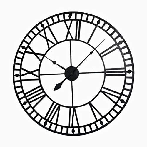 ZHPBHD Reloj De Pared De Época Reloj De Oficina De Bar De Hotel Loft De Cuarzo Silencioso Café De La Pared Hotel Bar - Diámetro Negro 40 Cm, 60 Cm, 80 Cm Reloj (Size : Diameter 80CM)