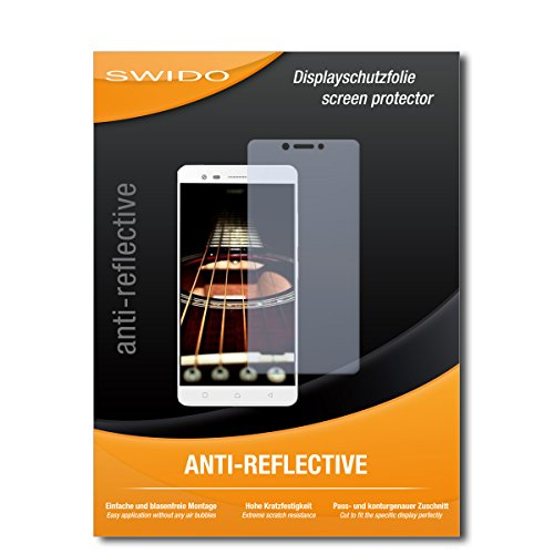 SWIDO Schutzfolie für Lenovo K6 Note [2 Stück] Anti-Reflex MATT Entspiegelnd, Hoher Härtegrad, Schutz vor Kratzer/Bildschirmschutz, Bildschirmschutzfolie, Panzerglas-Folie