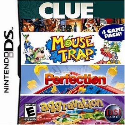 4 Game Fun Pack - Clue/Mouse Trap/Perfection/Aggravation Game DS [Importación Inglesa]