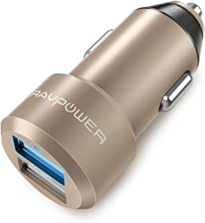 S7 Edge S8 Plus S8 RAVPower 24W Dual USB Car Charger iSmart 2.0 3ft USB Cable Cord Compatible iPhone Xs XS Max XR X 8 7 Plus Galaxy S9