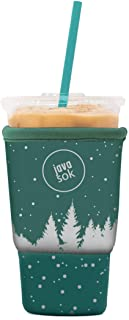 JAVA SOK Reusable Coffee Sleeve - Insulated Neoprene Sleeve for Iced Drinks and Cup Sleeve | Ideal for All Sizes Starbucks Coffee, McDonalds, Dunkin Donuts (Snow Scene, Large 32 oz)