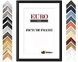 EUROLine35 mm Bilderrahmen DIN A0 (84,1 x 118,9 cm Bildmaß), Farbe: Gold Schlicht, inkl. entspiegeltem Acrylglas und MDF Rückwand, Rahmen Breite: 35 mm, Außenmaß: 89,9 x 124,7 cm