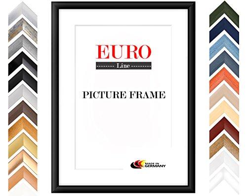 EUROLine35 mm Bilderrahmen DIN A4 (21 x 29,7 cm Bildmaß), Farbe: Schwarz Matt, inkl. entspiegeltem Acrylglas und MDF Rückwand, Rahmen Breite: 35 mm, Außenmaß: 26,8 x 35,5 cm
