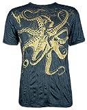 Sure Clothing El Kraken Gigante Talla M L XL Pulpo Natural Buceo Yoga Boho Namaste Nadar Pescado Buda (L, Negro)
