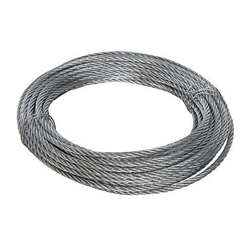 Fixman 858237 Cable galvanizado, Plata, 6 mm x 10 m