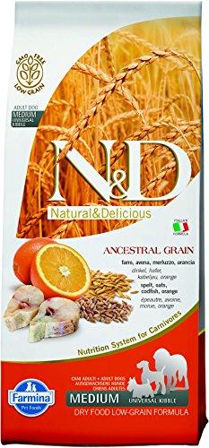 N&D LOW GRAIN N& d low grain con merluzzo e arancia secco cane kg. 12