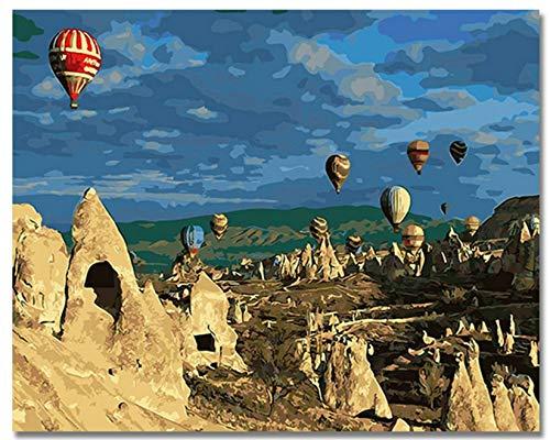 Tot Luftballon Bilder Malen nach Zahlen DIY Digital Türkei Stil Wand Öl Leinwand Kunst Färbung nach Zahlen Artworkwhc0815