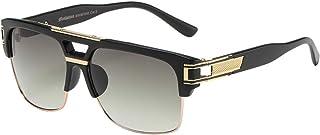 OWL Pouch Men Manhattan TM Metallic Hybrid Square Unisex Sunglasses
